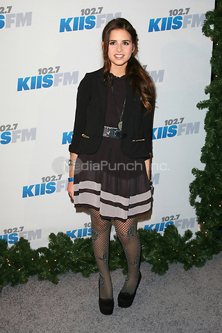 LOS ANGELES, CA - DECEMBER 01: Carly Rose Sonenclar at KIIS FM's 2012 Jingle Ball at Nokia Theatre L.A. Live on December 1, 2012 in Los Angeles, California. Credit: mpi21/MediaPunch Inc.