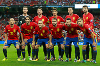 Spain's team photo during FIFA World Cup 2018 Qualifying Round match. September 2,2017.(ALTERPHOTOS/Acero)