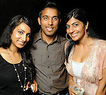 From left: Shanila Rattansi, Mike Patel and Seema Shah at the Steel Lounge Underground at the Contemporary Arts Museum  Friday July 30,2010.(Dave Rossman/For the Chronicle)