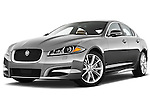 Low aggressive front three quarter view of a 2012 Jaguar XF Portfolio