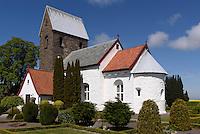romanische Knuds Kirke (12.Jh.) auf der Insel Bornholm, Dänemark, Europa<br /> Romanesque Knuds Kitke (12c.), Isle of Bornholm Denmark