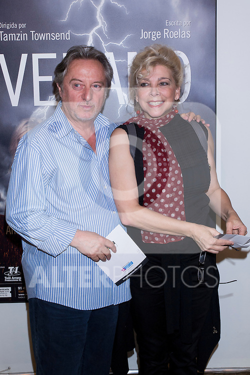 03.07.2012. Premiere at the Teatro Fernan Gomez at Madrid of the play 'Summer' written by Jorge Roelas. In the image Manuel Galiana and Kiti Manver (Alterphotos/Marta Gonzalez)