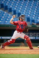 Christopher Bernal (16) of Mcallen High School in McAllen, TX during the Perfect Game National Showcase at Hoover Metropolitan Stadium on June 17, 2020 in Hoover, Alabama. (Mike Janes/Four Seam Images)