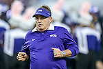 TCU Horned Frogs head coach Gary Patterson in action during the game between the  West Virginia and the TCU Horned Frogs at the Amon G. Carter Stadium in Fort Worth, Texas.