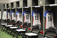 Cary, NC - Sunday October 22, 2017: U.S. Women's National team locker room during an International friendly match between the Women's National teams of the United States (USA) and South Korea (KOR) at Sahlen's Stadium in WakeMed Soccer Park.