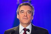 Francois Fillon prÈsente ses voeux destinÈs ‡ la presse et aux parlementaires ‡ son QG de campagne, le 10 janvier 2017 ‡ Paris