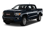 2019 GMC Canyon Allterrain 4 Door Pick Up angular front stock photos of front three quarter view