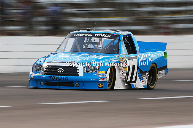 Camping World Truck Series driver German Quiroga (77) in action during the NCWTS Winstar World Casino 400 race at Texas Motor Speedway in Fort Worth,Texas.
