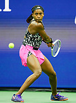 L September  1, 2021:   CoCo Gauff (USA) loses to Sloane Stephens (USA) 6-4, 6-2, at the US Open being played at Billy Jean King Ntional Tennis Center in Flushing, Queens, New York / USA ©Leslie Billman/Tennisclix/CSM