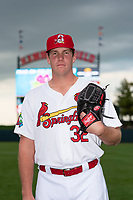 Springfield Cardinals pitcher Seth Elledge (32) poses for a photo before a Texas League game against the Amarillo Sod Poodles at Hammons Field on April 25, 2019 in Springfield, Missouri. (Zachary Lucy/Four Seam Images)