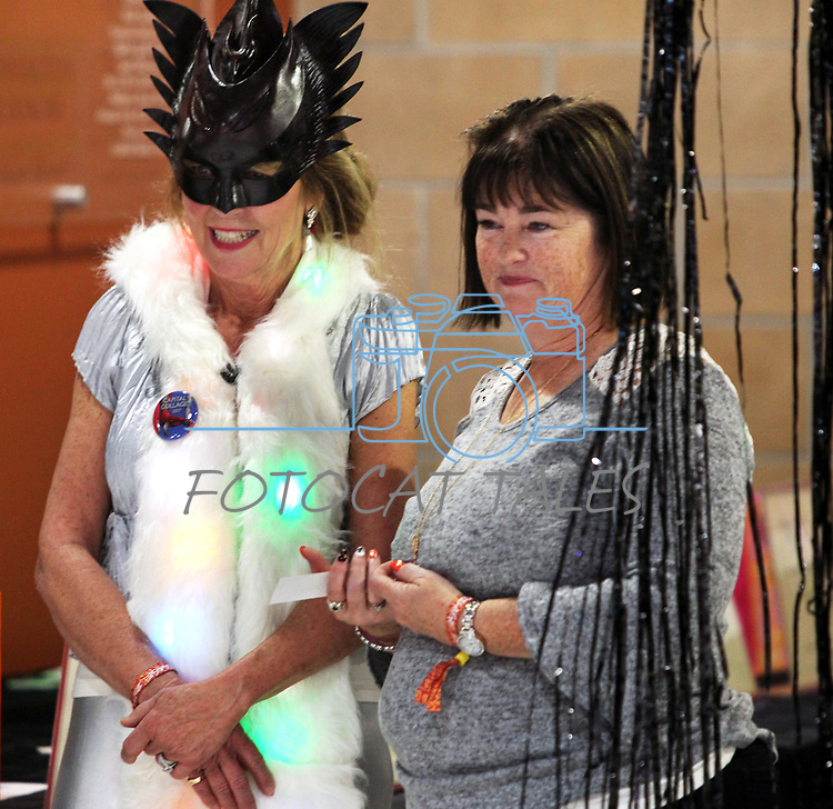 Guest greet each other as dozens of artists from around the state of Nevada performed or demonstrating their crafts at the annual Capital Collage in Carson City, Nev., on Friday, October 27, 2017. <br /> Photo by Lance Iversen/Nevada Momentum