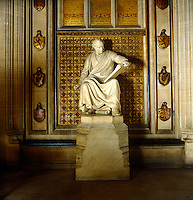 Statue of Charles Barry (1795-1860) by J.H Foley in the House of Commons. Barry was the chief architect (with the aid of Pugin) of the Houses of Parliament after Westminster Palace burned down in 1834