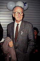 Montreal (QC) CANADA -Jan 1993 File Photo - Pierre Vadeboncoeur, writer, former union leader and political activist who just passed away February 2010.