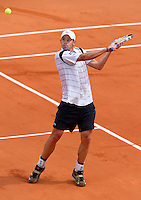 25-05-10, Tennis, France, Paris, Roland Garros, First round match, Andy Roddick  Nieminnen
