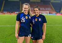 BREDA, NETHERLANDS - NOVEMBER 27: Jaelin Howell #26 and Sophia Smith #11 of the USWNT pose for a photo after a game between Netherlands and USWNT at Rat Verlegh Stadion on November 27, 2020 in Breda, Netherlands.