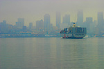 Seattle, Port of Seattle, container ship, Elliott Bay, Puget Sound, Washington State, Pacific Northwest,
