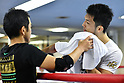 Boxing: Ryota Murata during media workout