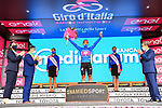 Jonathan Caicedo (ECU) EF Pro Cycling retains the mountains Maglia Azzurra at the end of Stage 4 of the 103rd edition of the Giro d'Italia 2020 running 140km from Catania to Villafranca Tirrena, Sicily, Italy. 6th October 2020.  <br /> Picture: LaPresse/Gian Mattia D'Alberto   Cyclefile<br /> <br /> All photos usage must carry mandatory copyright credit (© Cyclefile   LaPresse/Gian Mattia D'Alberto)