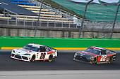 #20: Harrison Burton, Joe Gibbs Racing, Toyota Supra Dex Imaging, #22: Austin Cindric, Team Penske, Ford Mustang Snap-On