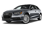 Stock pictures of low aggressive front three quarter view of 2016 Audi A3  Sportback e tron 1.4T S tronic Premium Plus  5 Door Hatchback