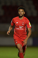 Lee Angol of Leyton Orient during the EFL Trophy behind closed doors match between Leyton Orient and Brighton & Hove Albion Under 21s at the Matchroom Stadium, London, England played without supporters able to attend due to ongoing covid-19 government guidelines on 8 September 2020. Photo by Vince  Mignott.