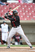 April 29, 2009: Markus Brisker (30) of the Lansing Lugnuts at Elfstrom Stadium in Geneva, IL.  Photo by: Chris Proctor/Four Seam Images