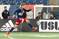 FOXBOROUGH, MA - OCTOBER 16: Justin Rennicks #12 of New England Revolution II during a game between North Texas SC and New England Revolution II at Gillette Stadium on October 16, 2020 in Foxborough, Massachusetts.