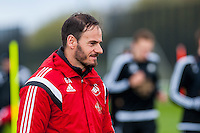 Tuesday 19 April 2016<br /> Pictured: Gabriele Ambrosetti looks on during training <br /> Re: Swansea City Training Session ahead of the away game against Leicester City FC