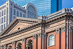 Old and new architecture in Back Bay, Boston, MA, USA