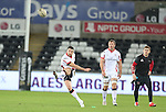 Ulster outside half Ian Humphreys kicks a penalty goal.<br /> Guiness Pro12<br /> Ospreys v Ulster<br /> 20.12.14<br /> ©Steve Pope -SPORTINGWALES