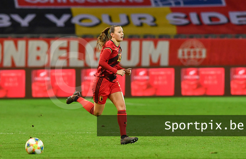 Belgian Hannah Eurlings pictured during a female soccer game between the national teams of Belgium , called the Red Flames and Switzerland on the 8 th and last matchday in group H for the qualification for the Womens EURO 2022 in England , on Tuesday 1 th of December 2020  in Leuven , Belgium . PHOTO SPORTPIX.BE | SPP | DAVID CATRY