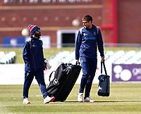 Kent bowling coach Simon Cook (R) during Kent CCC vs Lancashire CCC, LV Insurance County Championship Group 3 Cricket at The Spitfire Ground on 24th April 2021