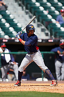 Toledo Mudhens Dixon Machado (6) bats during a game against the Buffalo Bisons on May 18, 2016 at Coca-Cola Field in Buffalo, New York.  Buffalo defeated Toledo 7-5.  (Mike Janes/Four Seam Images)