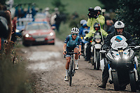 2nd October 2021, Paris–Roubaix Cycling tour; The first ever women's edition of Paris Roubaix which is famous for its uneven cobblestone course. Lizzy Deignan.