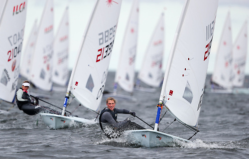 Eve McMahon - at 16 the youngest sailor to make gold fleet at the Radial Europeans Photo: Thom Touw