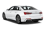 Car pictures of rear three quarter view of 2019 Audi A6 S-Line 4 Door Sedan Angular Rear