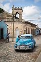 27/07/18<br /> <br /> Old American car, Trinidad, Cuba.<br /> <br /> All Rights Reserved, F Stop Press Ltd. (0)1335 344240 +44 (0)7765 242650  www.fstoppress.com rod@fstoppress.com