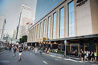 Hong Kong, Central, 29 Sept. 2014<br /> <br /> Taxi queue of the Mandarin Oriental Hotel has to make space for Occupy Central protesters. Connaught Road Central pedestrianized!<br /> <br /> Photo Kees Metselaar