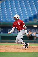 Jay Allen (1) of John Carroll Catholic High School in Fort Pierce, FL during the Perfect Game National Showcase at Hoover Metropolitan Stadium on June 17, 2020 in Hoover, Alabama. (Mike Janes/Four Seam Images)
