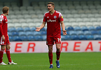 Colby Bishop of Accrington Stanley complaining to the officials during AFC Wimbledon vs Accrington Stanley, Sky Bet EFL League 1 Football at The Kiyan Prince Foundation Stadium on 3rd October 2020