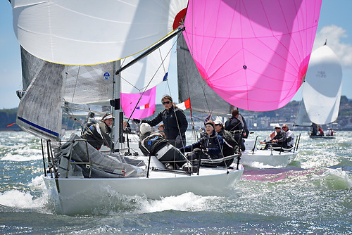 Louise Morton's Quarter Tonner Bullet was class winner in the last RORC Vice Admiral's Cup Photo: Rick Tomlinson