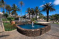 Brunnen im Stadtpark in Vila Baleira, Porto Santo, Portugal