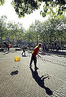 20030918, Zwolle, Davis Cup, NL-India, Straattennis met Schalken