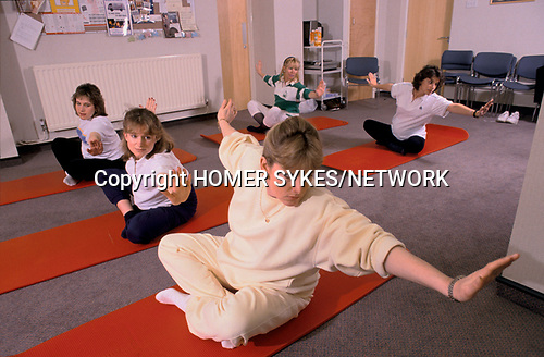 Portland Private hospital London 1990. Ante natal shape up and keep fit classes once a week. 1990s UK