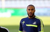 Valencia, Spain. Wednesday 18 September 2013<br /> Pictured: Team captain Ashley Williams.<br /> Re: Swansea City FC training ahead of their UEFA Europa League game against Valencia C.F. at the Estadio Mestalla, Spain,