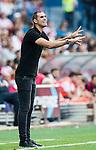 Head coach Gaizka Garitano of Deportivo la Coruna reacts during their La Liga match between Atletico Madrid and Deportivo de la Coruna at the Vicente Calderon Stadium on 25 September 2016 in Madrid, Spain. Photo by Diego Gonzalez Souto / Power Sport Images