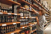 - Eataly, market for the sale of quality Italian food, the shelf of beers<br /> <br /> - Eataly, market per la vendita del cibo italiano di qualità, lo scaffale delle birre