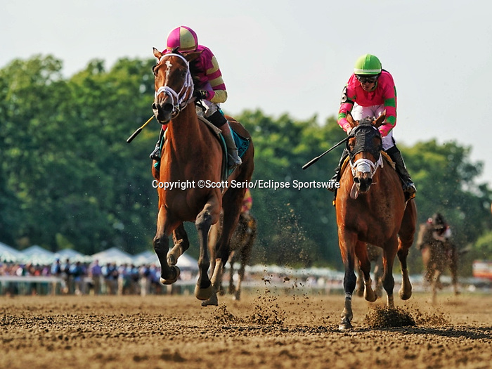 July 17, 2021:  Graceful Princess #9, ridden by jockey Joel Rosario wins the Grade 3 Molly Pitcher Stakes on Haskell Invitational Day at Monmouth Park Racecourse in Oceanport, New Jersey on July 17, 2021. Scott Serio/Eclipse Sportswire/CSM