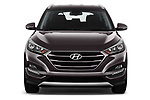 Car photography straight front view of a 2018 Hyundai Tucson Premium 5 Door SUV