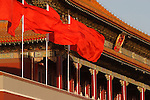 A close up view of Tian An Men the Gate of Heavenly Peace. Beijing. China